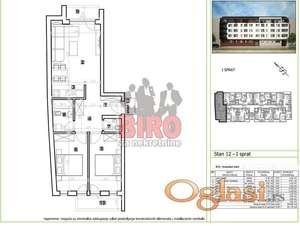 Odličan trosoban stan u izgradnji, pet minuta od centra