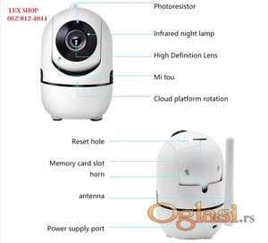Autorotirajuca IP kamera, Sd memorija, wifi kamera, 720p