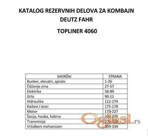 Deutz Fahr TopLiner 4060 - katalog delova