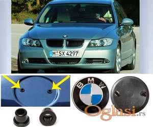 BMW znak haube E90/E91 originalni reljefni 82 mm aluminijumski logo