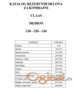 Claas Medion 330 - 320 -310  Katalog delova