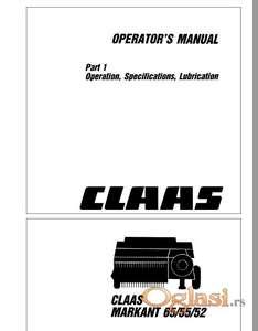 Claas Markant 65 55 52 Uputstvo za rukovanje i održavanje