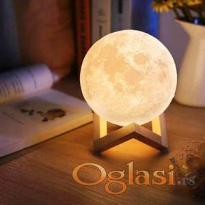 3D Lampa Mesec