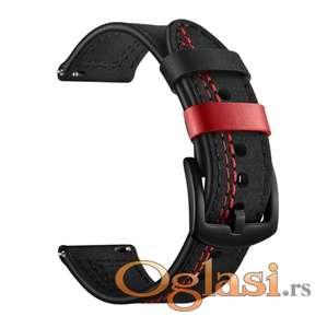 Samsung gear s3 classic narukvica (kozna sa crvenim sivenjem)