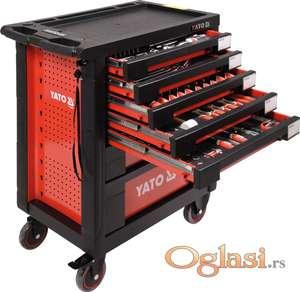 Kolica za alat sa 7 fioka sa 211 alata Yato YT-55290