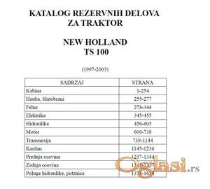 New Holland TS 100 - Katalog delova