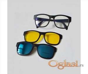 Naočare sa promenljivim staklom i magnetom