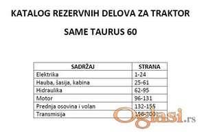 Same Taurus 60 Katalog rezervnih delova
