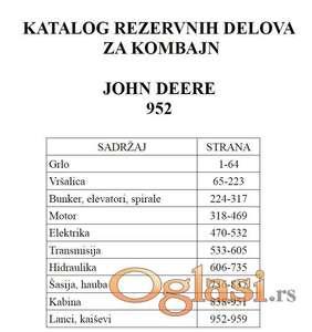 John Deere 952 - Katalog delova