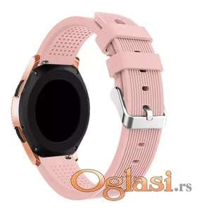 Silikonska roze narukvica Samsung galaxy watch 42mm