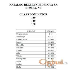 Claas Dominator 150 - 140 - 130 Katalog delova