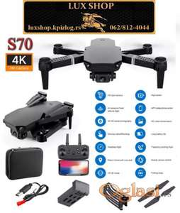 WIFI FPV RC 4K/Dual Quadcopter Dron RC Drone S70 PRO 2021