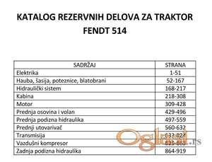 Fendt 514 - katalog delova