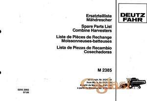 Deutz Fahr M 2385 - Katalog delova