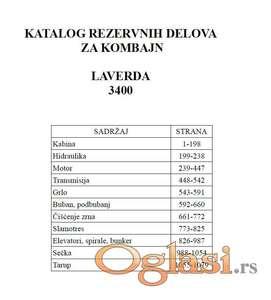 Laverda 3400 - Katalog delova