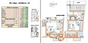 Rotkvarija-POŽELJAN DVOSOBAN DUPLEKS 60 m2 U IZGRADNJI-povraćaj PDV-a