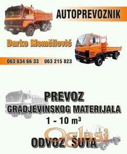 Prevoz gradj.materijala,šut, MINI BAGER USLUGE