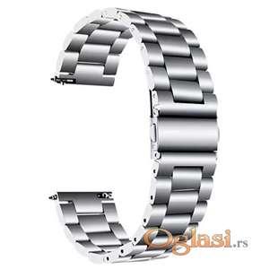 Silver metalna narukvica 20\22mm galaxy watch,huawei watch