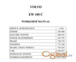 Volvo EW180 C   Radionički priručnik