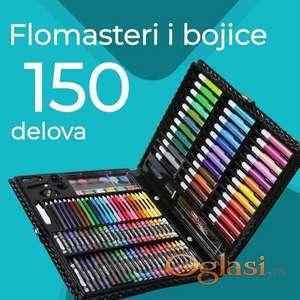 Umetnički Kofer - Kreativni Set Bojica I Flomastera, uljanihi vodenih boja