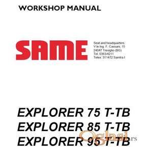 Same Explorer T-TB 75 - 85 - 95 Radionički priručnik