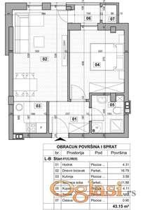 KLISA, 44 m2, 58800 EUR