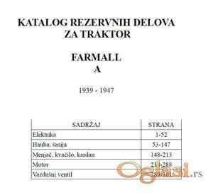Farmall A traktor - Katalog delova