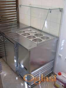 Rashladni sto za priloge i topla ploča