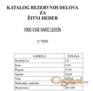Claas V900-V540 Vario Lexion - Katalog delova