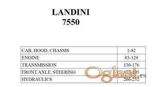 Landini 7550 - Katalog delova
