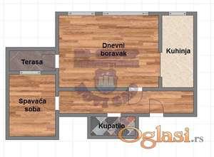 Odličan dvosoban stan u centru Kamenice !