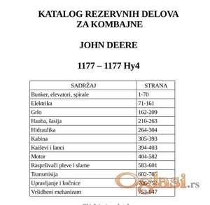 John Deere 1177 - 1177 Hy4 Katalog delova