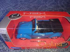 Metalni auto model volkswagen buba kabriolet