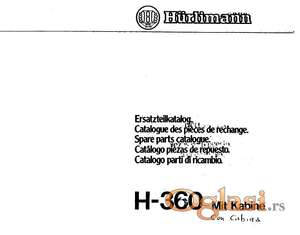 Hurlimann 360 - Katalog delova