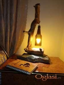 Stona lampa unikat