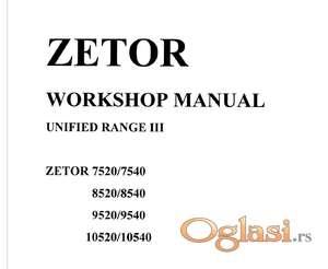 Zetor 7520-7540-8520-8540-9520-9540-10520-10540 Radionički priručnik