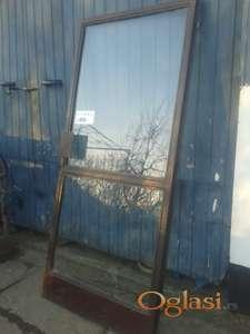 Metalna dvokrilna vrata 196/207 cm sa staklom 150 E