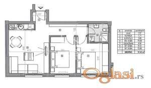 Odlican dvoiposoban stan u izgradnji,siri centar grada!