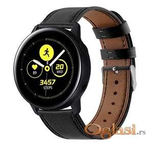 Narukvica za Samsung galaxy watch active 2 (crna kozna)