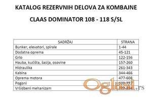 Claas Dominator 108 - 118 S/SL katalog delova