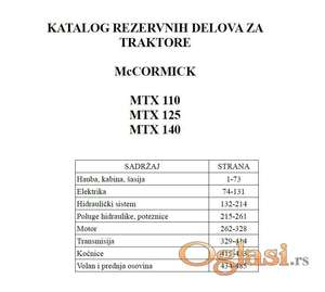 McCormick MTX 110 - 125 - 140 Katalog delova