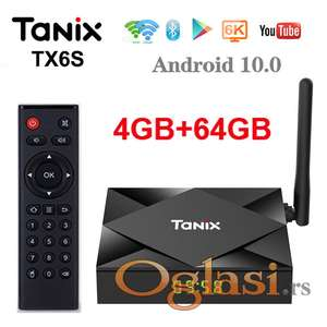 TX6 Android Smart Tv Box 4GB + 64GB 4K Ultra Hd Android 10