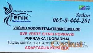 Vodoinstalater - Novi Sad