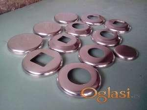 Rozetne za cev fi 45 mm metalne, inox i aluminijumske