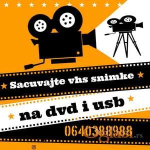 Sacuvajte vase VHS snimke na DVD i USB