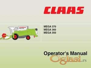 Claas Mega 350 360 370   Uputstvo za rukovanje i održavanje