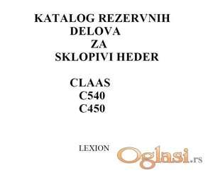 Claas C450 - C540 heder - Katalog delova