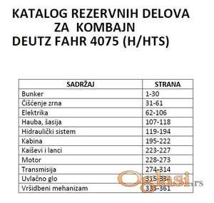 Deutz Fahr 4075 H/HTS  Katalog delova