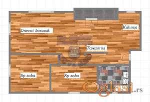 Odlican dvoiposoban stan u izgradnji na Sajlovu!!!021/662-0001