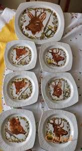Posluzavnik i 6 tanjirica
